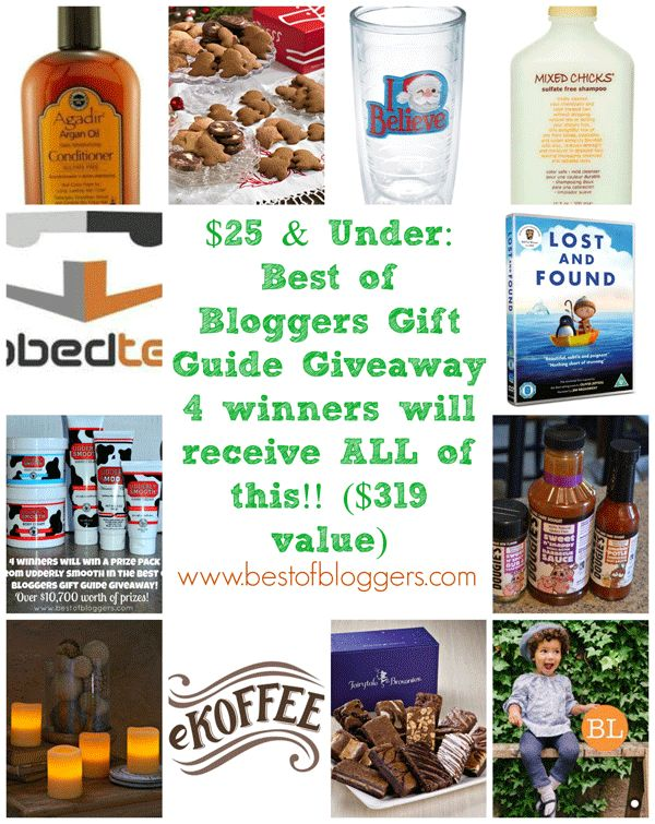 Best of bloggers gift guide giveaway 25 amp under ends tonight nov