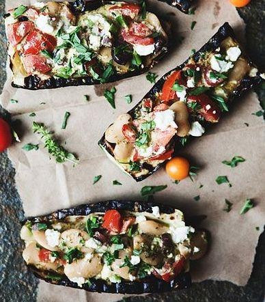 Grilled Basil Pesto Stuffed Zucchini #glutenfree Such a great way to ...