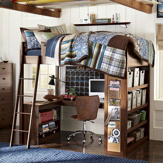 Loft Bed From Pottery Barn Furniture Spaces Pinterest