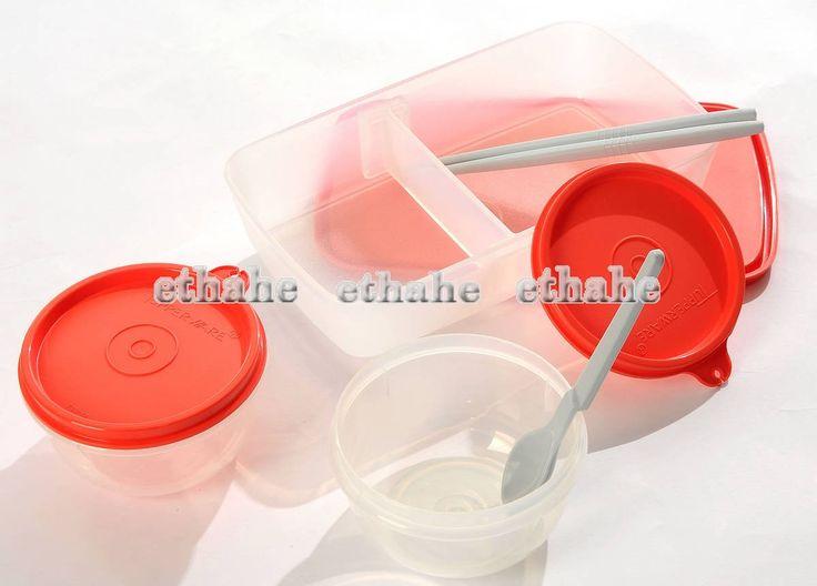 tupperware new lunch set bento lunch box ideal little bowls handbag 6. Black Bedroom Furniture Sets. Home Design Ideas