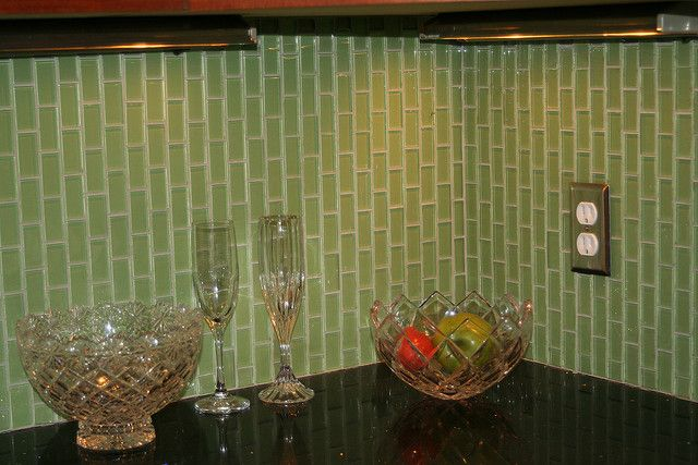 sea glass backsplash kitchen ideas pinterest