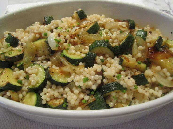 Israeli Couscous with Zucchini | Food | Pinterest