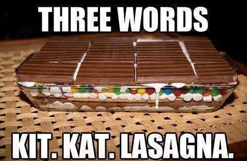 Kit-Kat Lasagna! Birthday Lunch?   Food   Pinterest