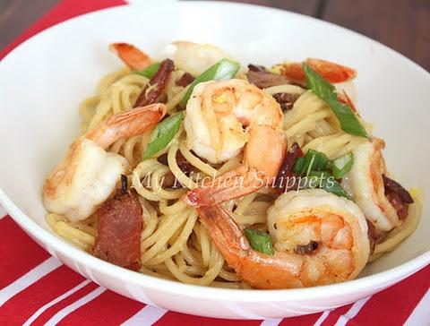 Shrimp Carbonara | Resepi: Prawn / Udang | Pinterest