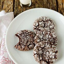 Ridiculously Simple Chocolate Crinkle Cookies — Punchfork