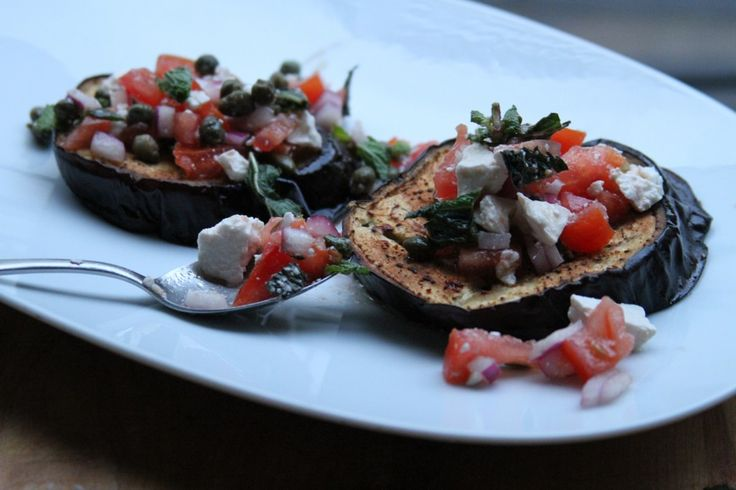 Roasted Eggplant with Tomatoes and Mint | My kind of food. | Pinterest