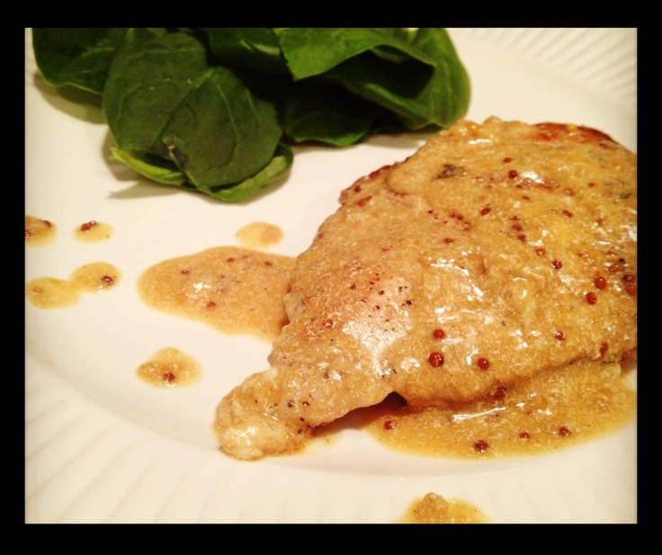 Chicken with Creamy Mustard Sauce. Obsessed with all things mustard ...