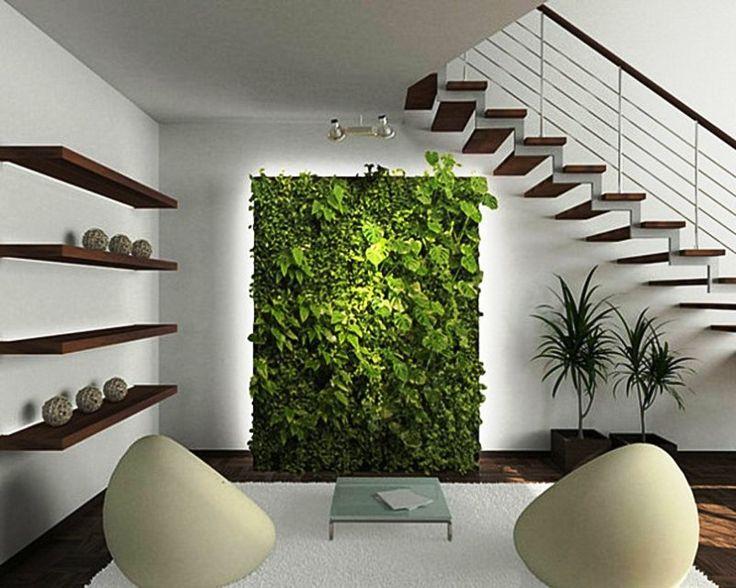 室内の緑の壁