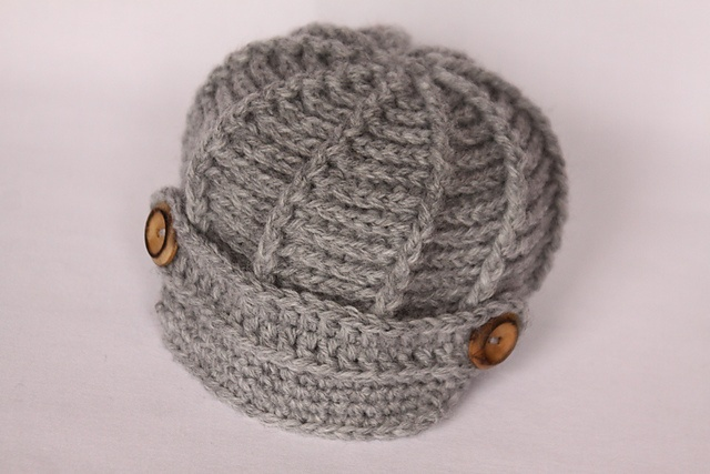 Baby Hat Knitting Pattern Ravelry : Ravelry: baby newsboy hat crochet/yarn Pinterest