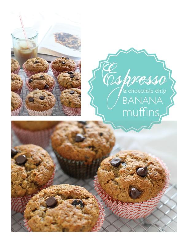 Espresso chocolate chip banana muffins | Yummy in my tummy | Pinterest