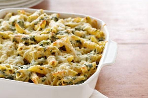 Four-Cheese Pasta Florentine | KitchenDaily.com