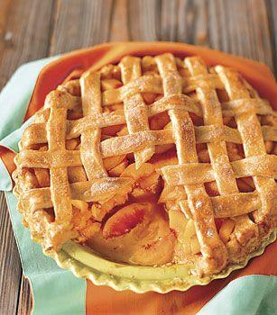 Peach Lattice Pie Recipe at Epicurious.com