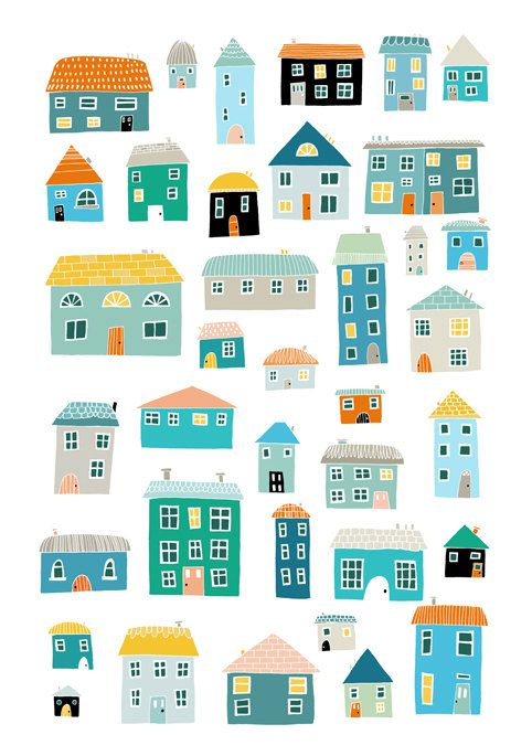Where We Live A4 print - LIMITED EDITION in blue | Amy Blackwell