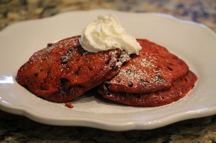 Red Velvet Pancakes. Apparently, I want pancakes.