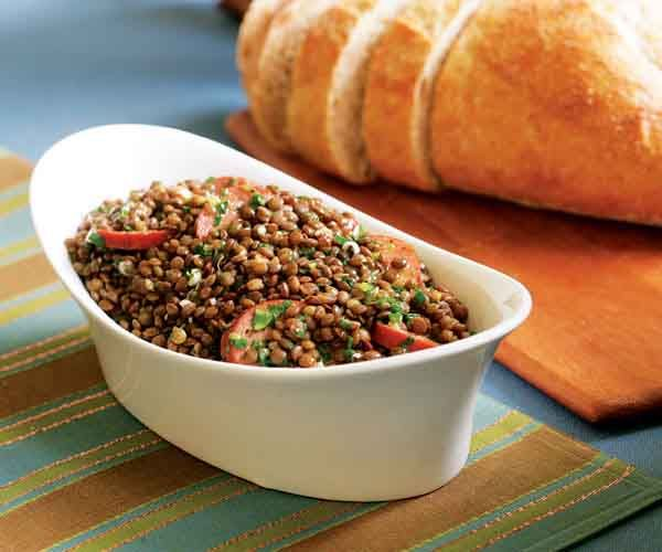 Warm Lentil Salad With Goat Cheese Recipe — Dishmaps