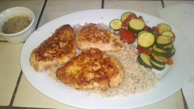 Chicken breasts with lime sauce. I encrusted the chicken breasts with ...