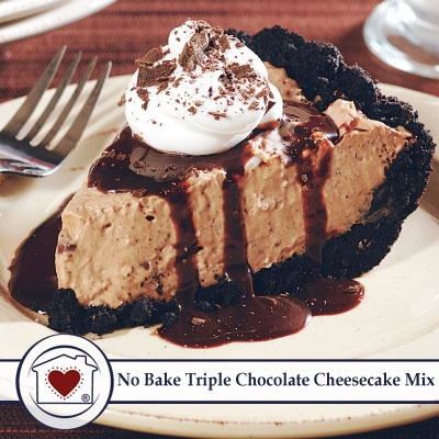No Bake Triple Chocolate Cheesecake Mix Price: $7.50 No fussing with ...