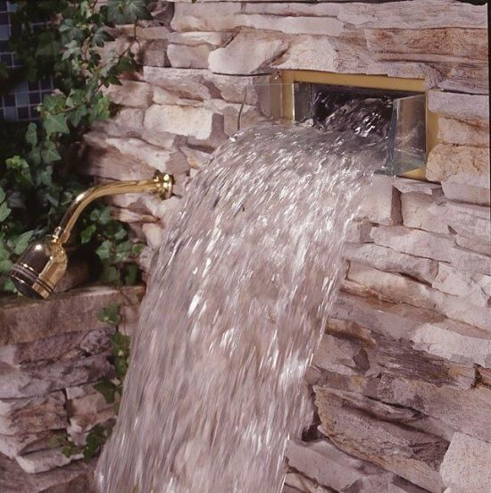 Waterfall Shower Head For The Home Pinterest