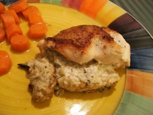 Chicken Breasts Stuffed With Artichokes Lemon and Goats Cheese. (Goat ...