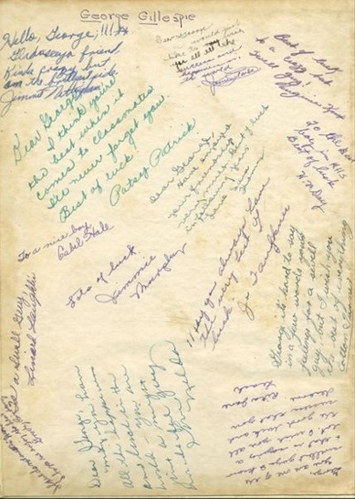 1944 yearbook signatures in the quot reflector quot yearbook at kilgore high