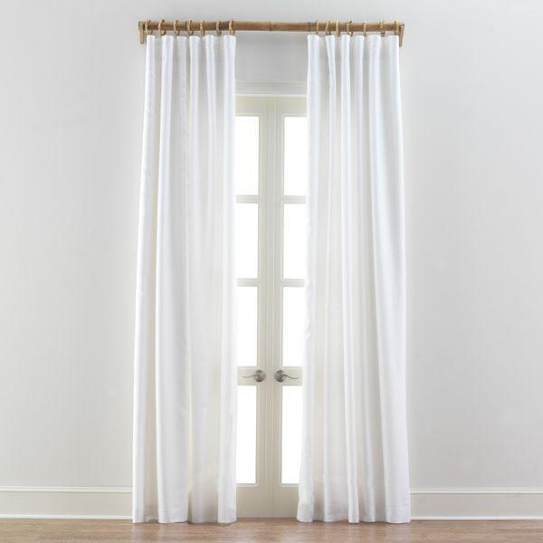 White Linen Drapes Updating Pinterest