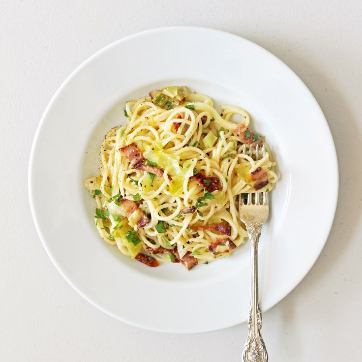 ... ! Fast and Easy: Pasta Carbonara With Leeks and Sun-Dried Tomatoes