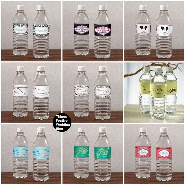 personalized wedding water bottle labels add style for a mere $.38