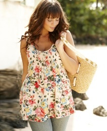 Printed Pintuck Camisole