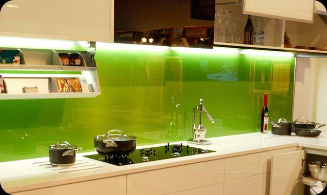 keuken achterwand groen glas  Keuken  Pinterest