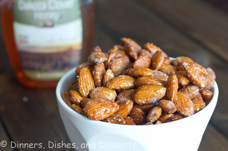 Spicy Honey Roasted Almonds @Dinnersdishesdessert