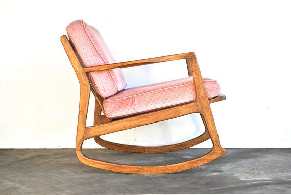 mid century modern rocking chair danish modern vintage furniture