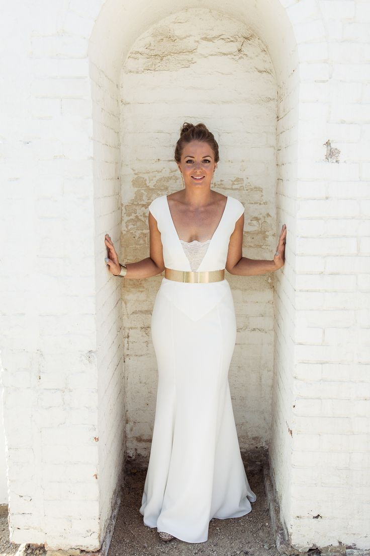 Gold Belted Wedding Gown Gorgeous Belt It Pinterest
