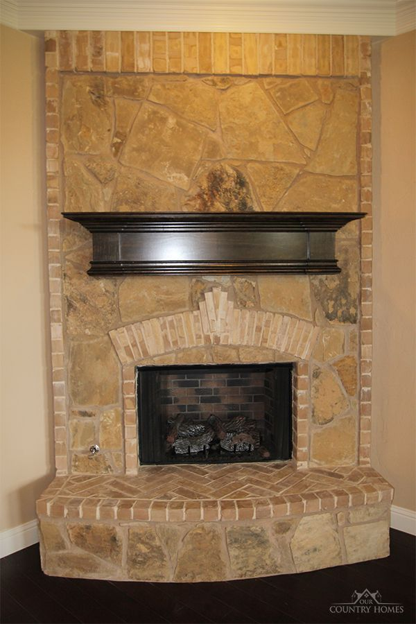 Fireplace brick stone mix house plans pinterest for Mixing brick and stone