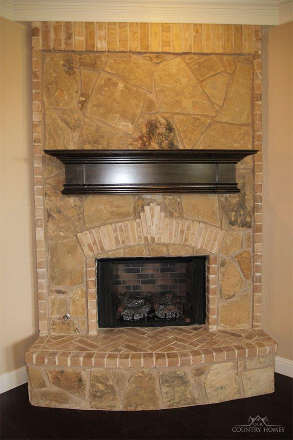 Fireplace Brick Stone Mix House Plans Pinterest