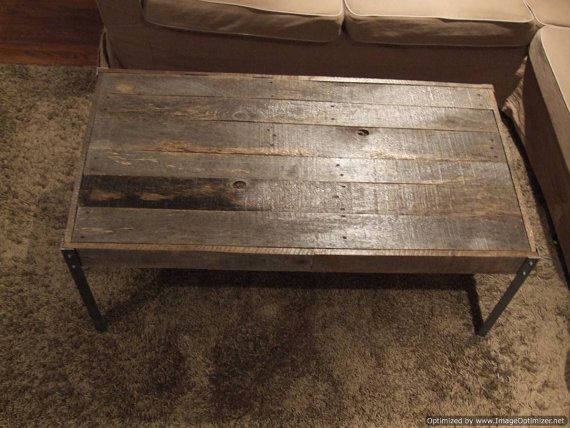 The Horizontal Distressed Wood With Nail Heads Coffee Table