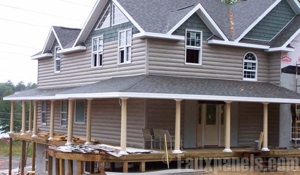 Faux Panel Log Siding Ideas For Remodel Move To Cabin Pinterest