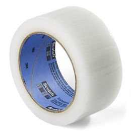 Scotch® Transparent Duct Tape    Lasting six times longer than other heavy-duty tapes, Scotch® Transparent Duct Tape is the answer to almost any emergency at home or away. Use it to reseal packages, temporarily close luggage with a sprung latch and even temporarily repair a car hose until you can get to a garage. Designed to work in hot or cold conditions, it's also perfect for sealing storage and moving boxes and bags. $3.99