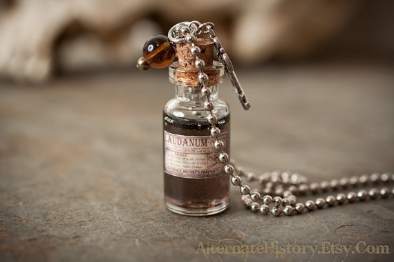 Laudanum / Poison Bottle Charm Necklace Small by AlternateHistory, $24 ...