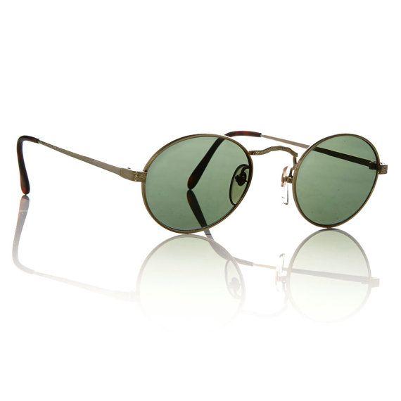 Men s Round Gold Frame Sunglasses : Mens Gold Filigree Frame Round Riley Sunglasses // Great ...