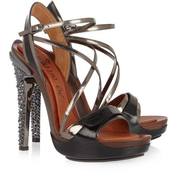 Lanvin Opanca Crystal-Embellished Sandal net-a-porter