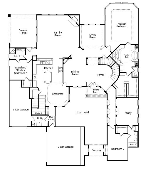 Positano Floor Plan Level 1 Taylor Morrison Dream
