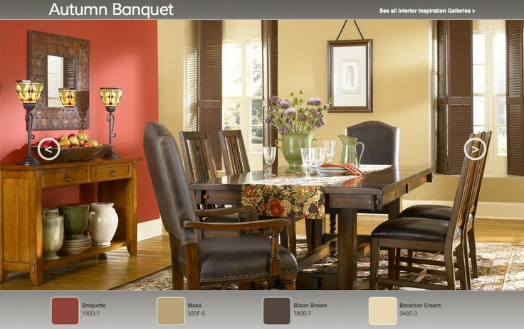 autumn bouquet arts crafts inspired interior paint color palette. Black Bedroom Furniture Sets. Home Design Ideas