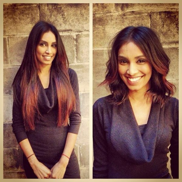 ... straight hair a textured, bobbed makeover. It was a g? Pinterest