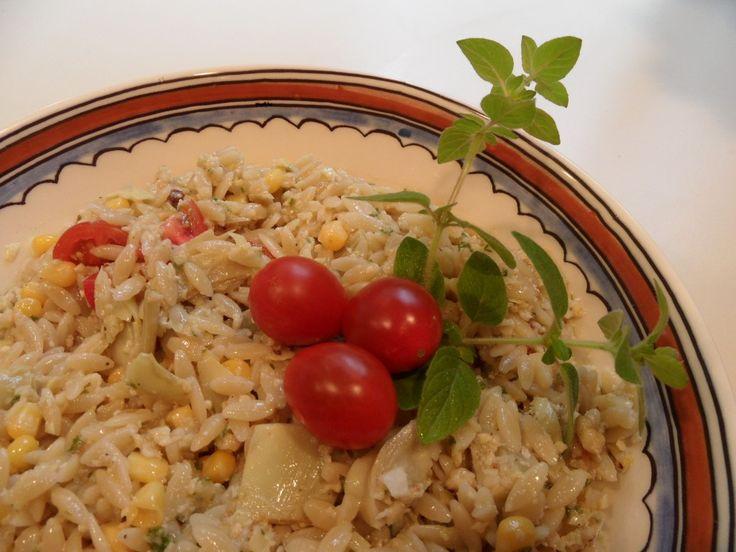 Orzo with Marinated Artichoke Hearts, Tomatoes, Corn, and Oregano ...