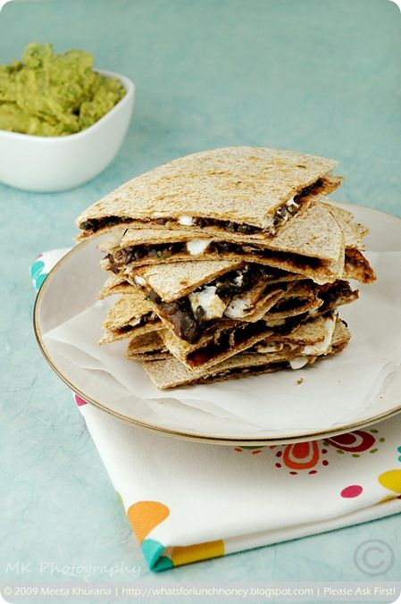 Black Bean and Goat Cheese Quesadillas | I'm obsessed with food. | Pi ...