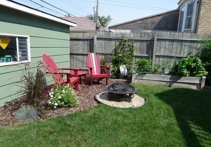 Fire Pit Seating Area Landscaping Outdoor Rooms