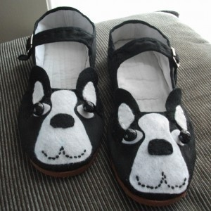 Boston terrier shoes!