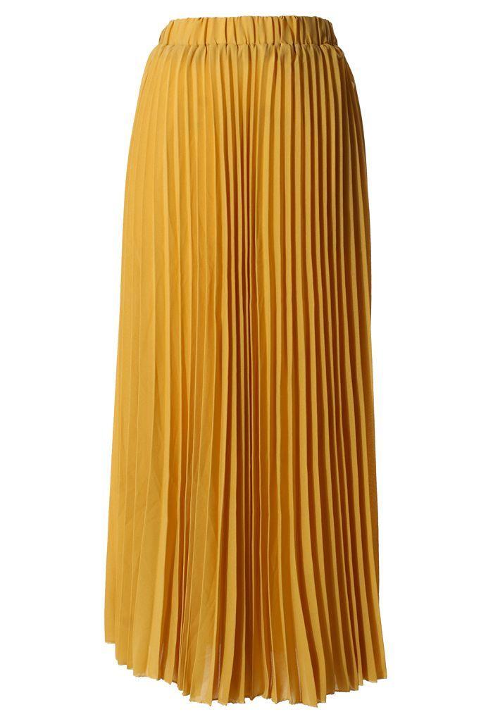 mustard yellow maxi skirt summer style