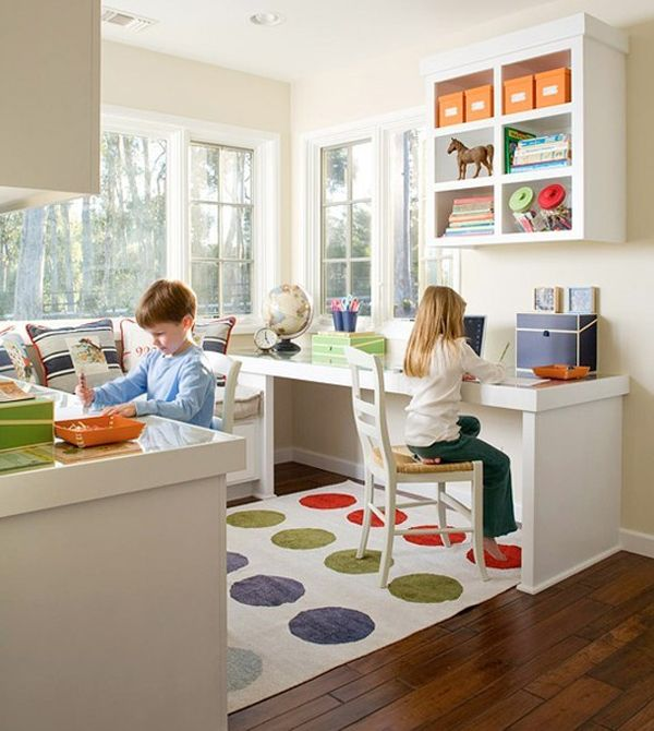 great looking homework area for the kids decoraci n