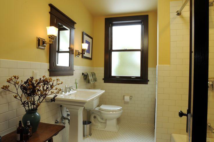Craftsman style bathroom remodeled bathrooms pinterest for Craftsman bathroom pictures